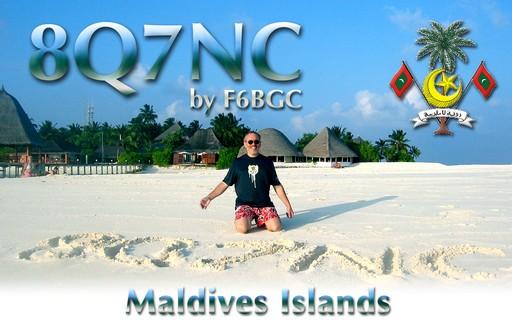 Maldive Islands 8Q7NC QSL