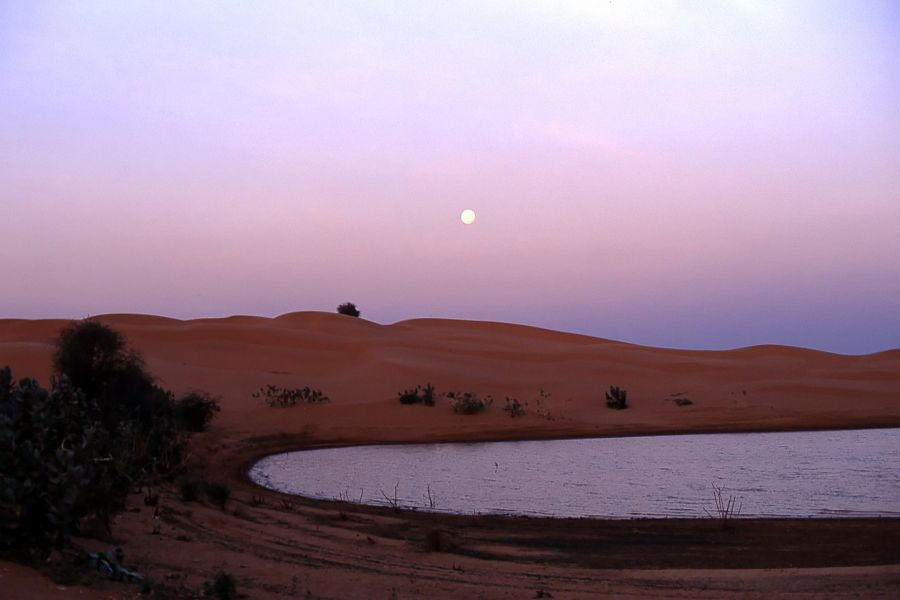 Mauritania 5T4C DX News Twilight on Maal lake.