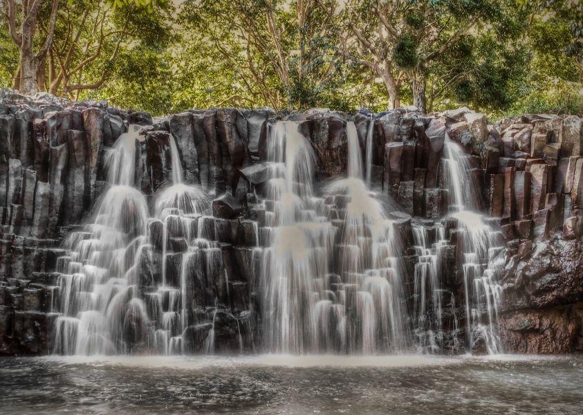 Mauritius Island 3B8/M0DSL Tourist attractions spot Rochester Falls.