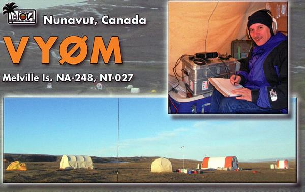 Melville Island VY0M QSL