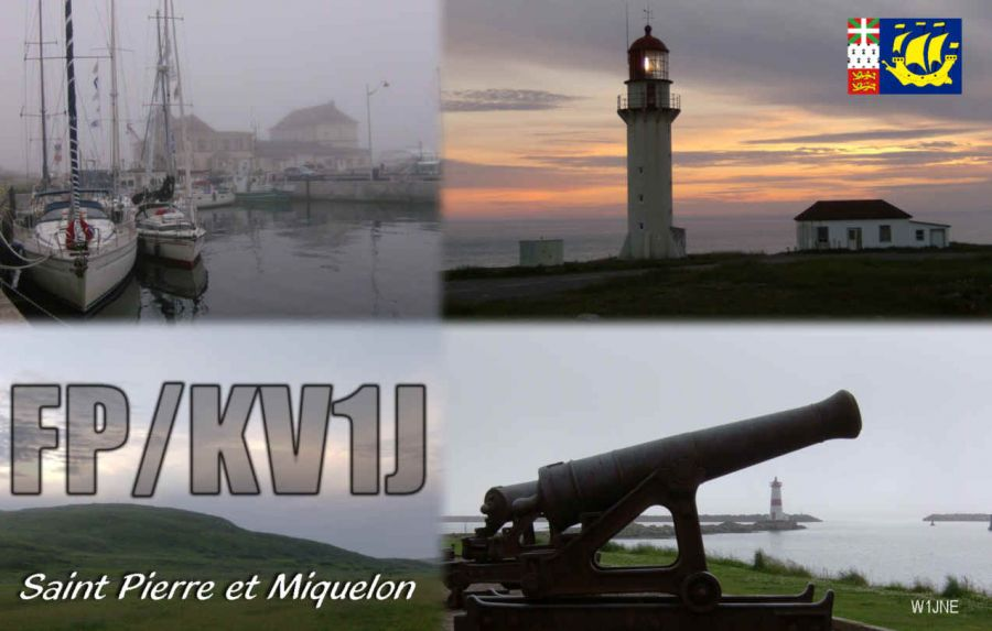 Miquelon Island FP/KV1J QSL
