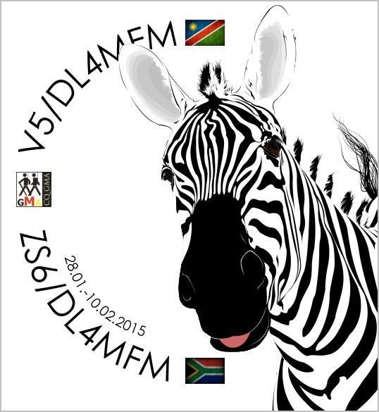 Намибия V5/DL4MFM Логотип