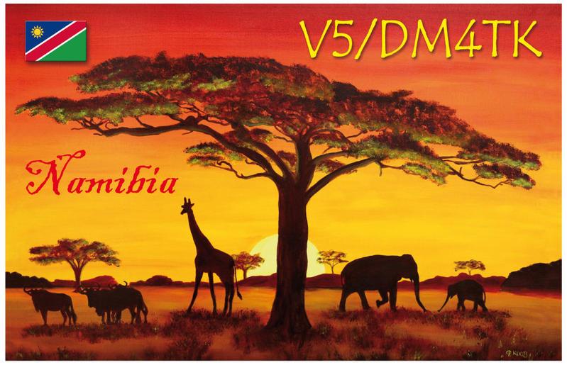 Namibia V5/DM4TK QSL