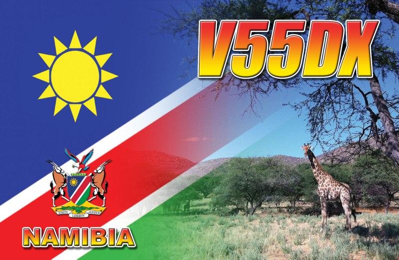Намибия V55DX QSL