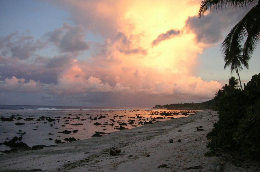 Nauru C21DA Sunset.