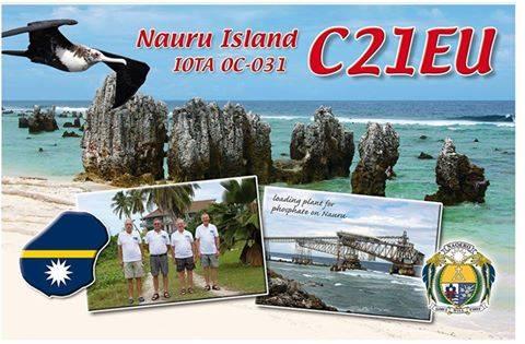 Науру C21EU QSL