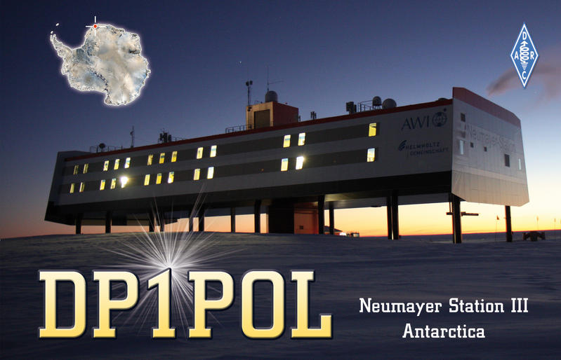 Станция Ноймайер III Антарктида DP1POL