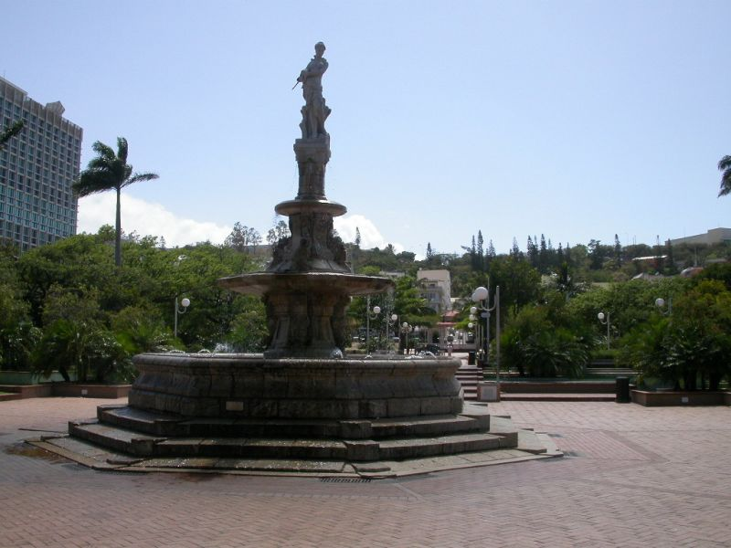 New Caledonia FK/F9IE DX News Celeste Fountain, Place des Cocotiers (Place of coconut trees) Noumea.