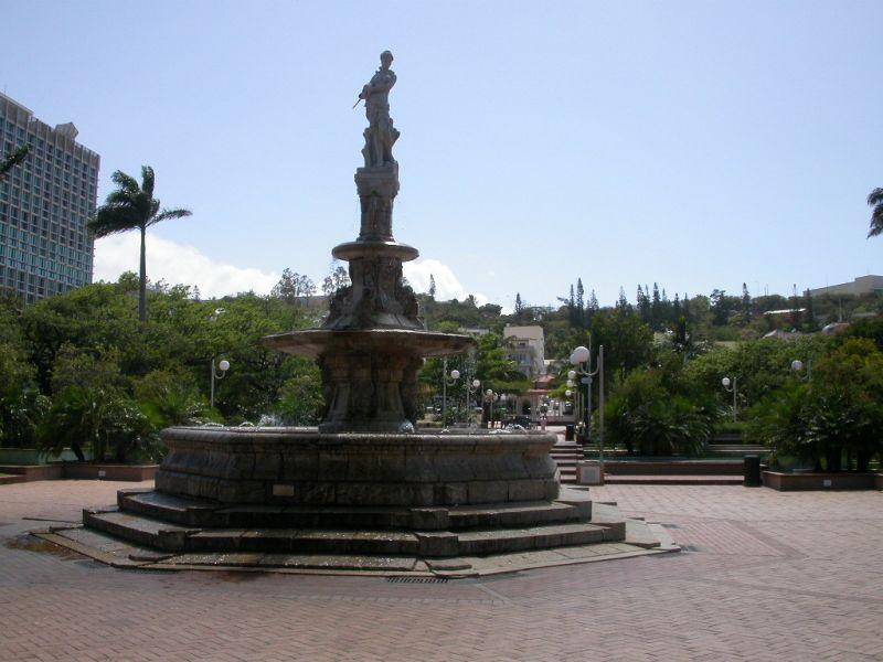 New Caledonia FK/F9IE DX News Celeste Fountain, Place des Cocotiers (Place of coconut trees) Noumea.