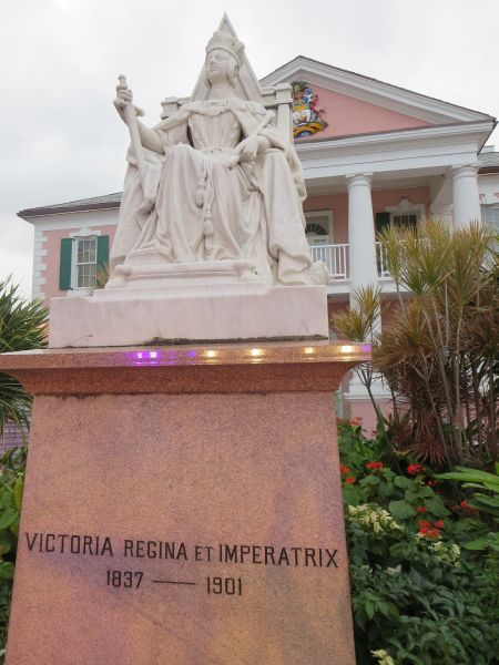 New Providence Island C6ABB Tourist attractions spot Queen Victoria Statue at Parliament Square Nassau.