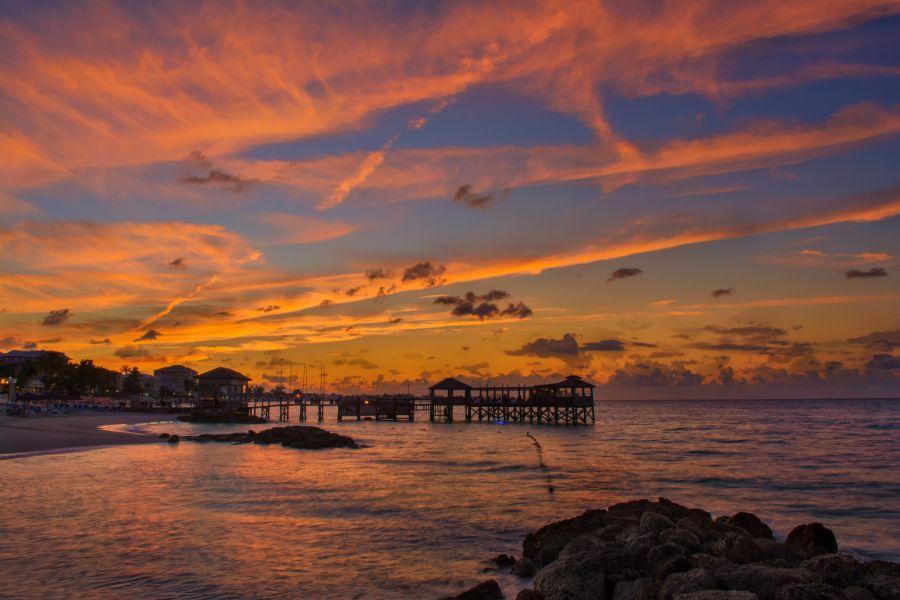 New Providence Island C6AKE Tourist attractions spot Sunset.