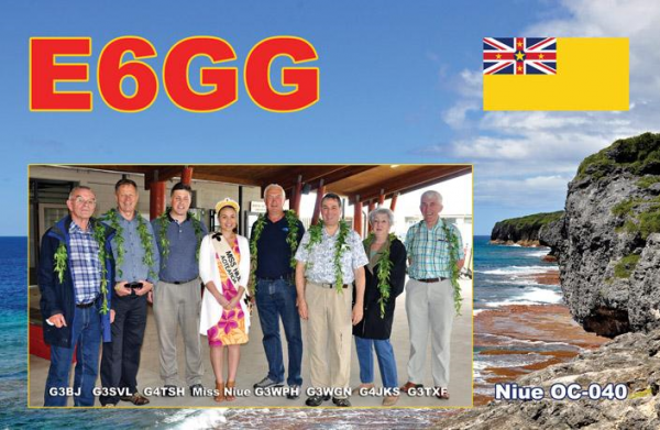 Остров Ниуэ E6GG QSL