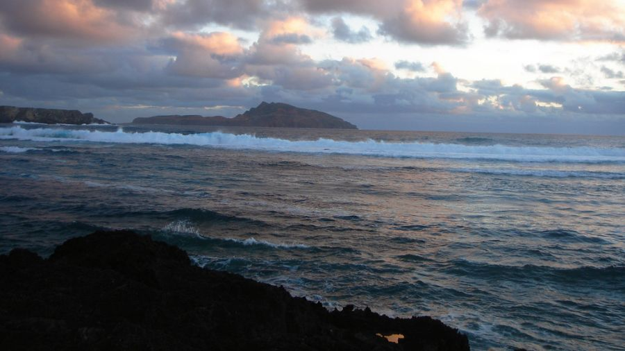 Norfolk Island VK9NU Tourist attractions spot Sunset.