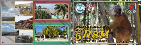 Остров Нуси Бе Мадагаскар 5R8M QSL