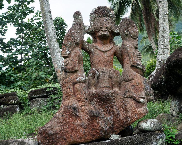 Nuku Hiva Island Marquesas Islands TX7EU Tourist attractions spot Hikokua.