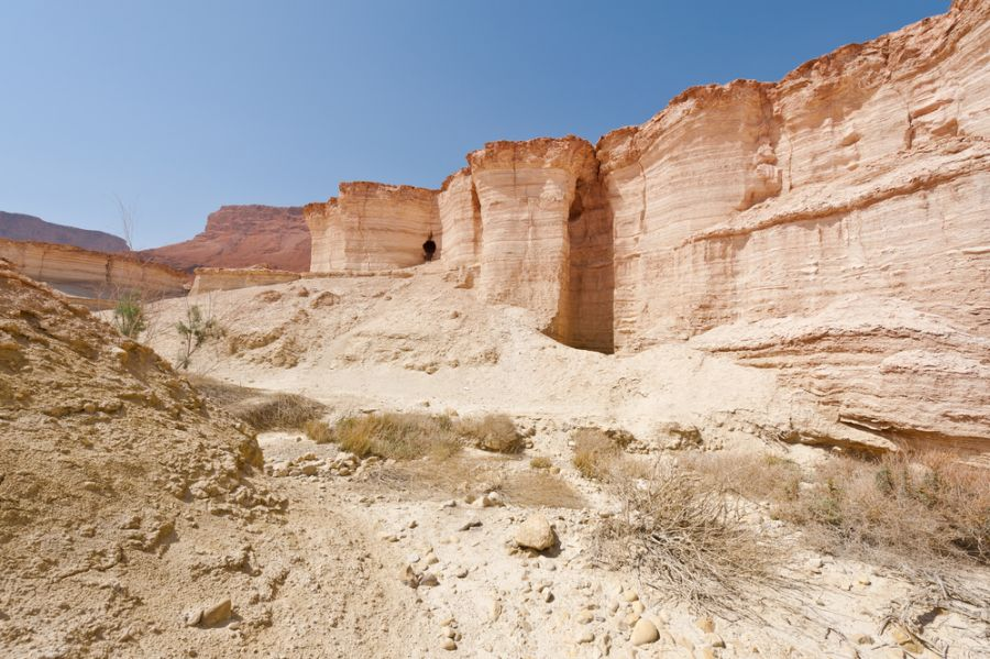 Palestine E44QX E44HP Canyon in the Judean Desert.