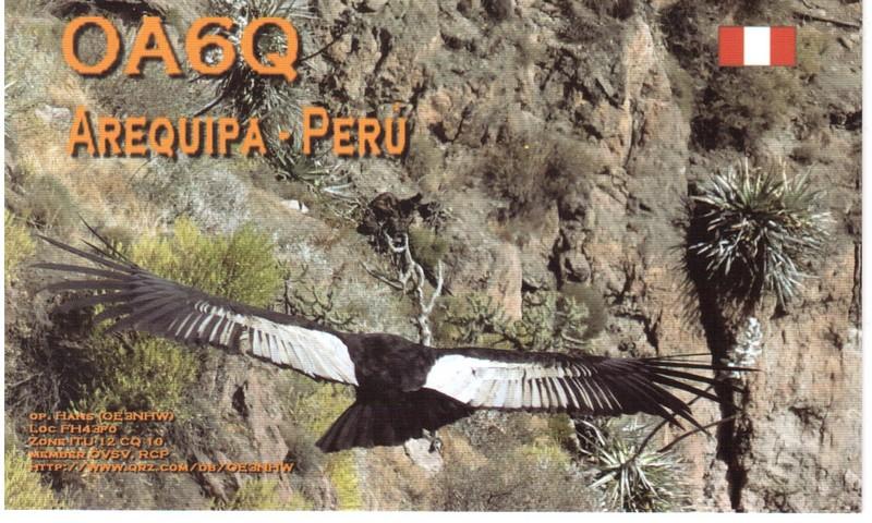 Peru OA6Q QSL