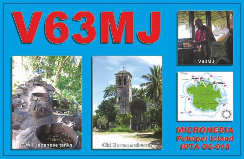 Pohnpei Island V63MJ QSL