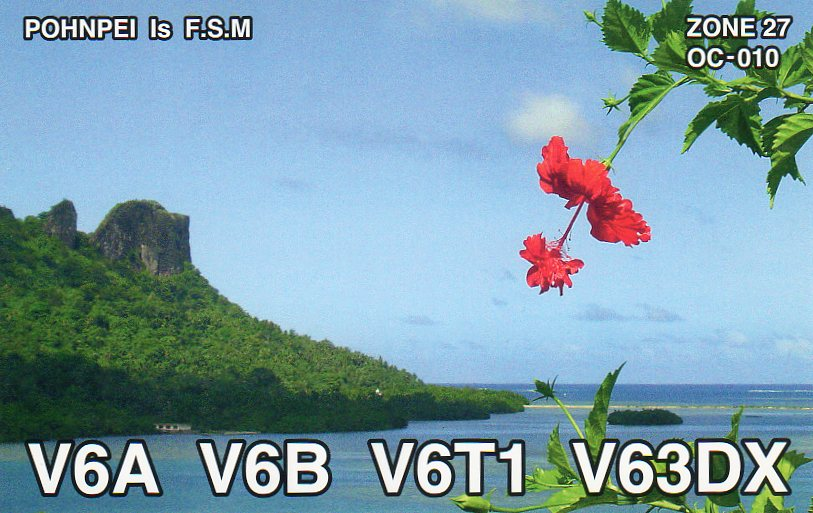 Pohnpei Island V6A V63DX QSL