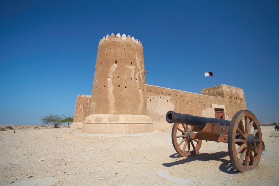 Qatar A71CV Tourist attractions Rebuilt historic Fort Zubarah