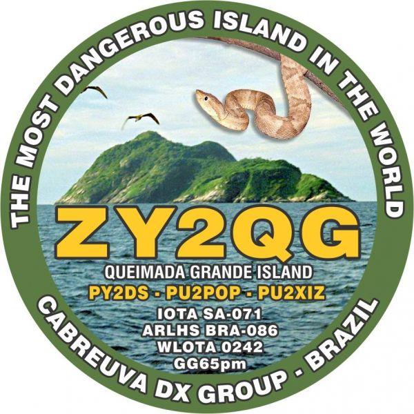 Queimada Grande Island Snake Island ZY2QG Logo