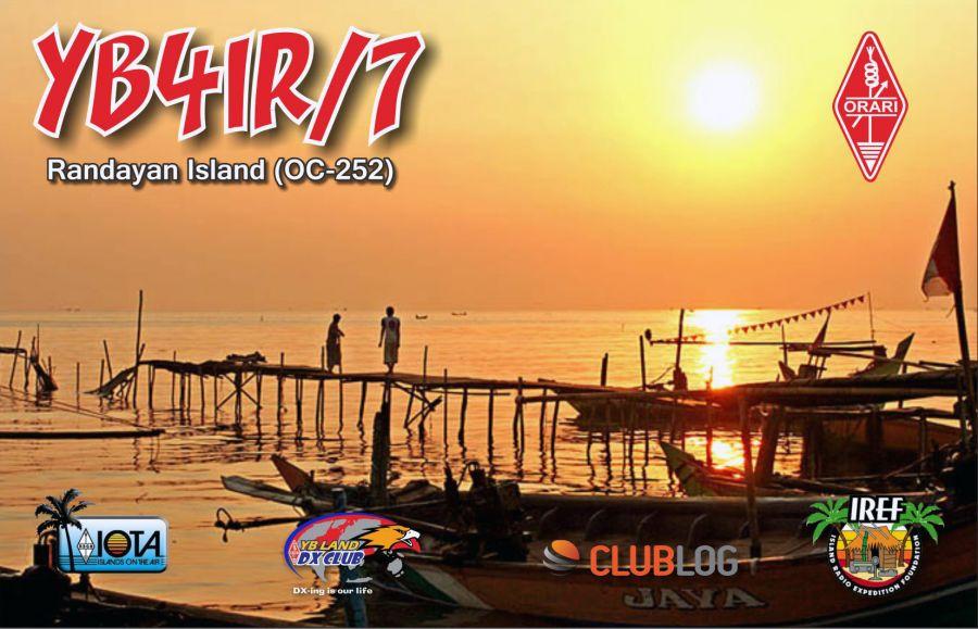 Randayan Island YB4IR/7 QSL