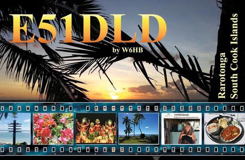 Rarotonga Island E51DLD QSL