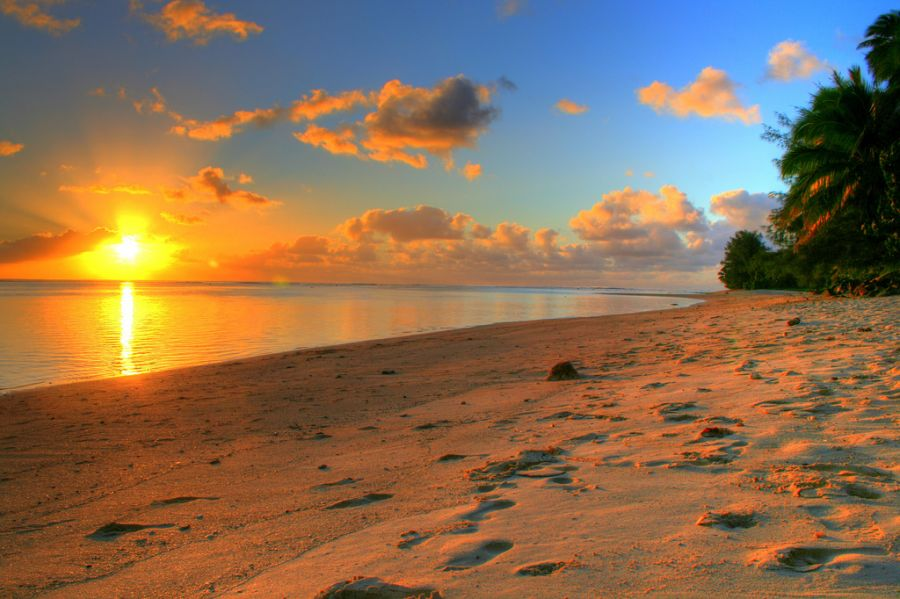 Rarotonga Island E51JNH DX News Rarotonga Sunset.