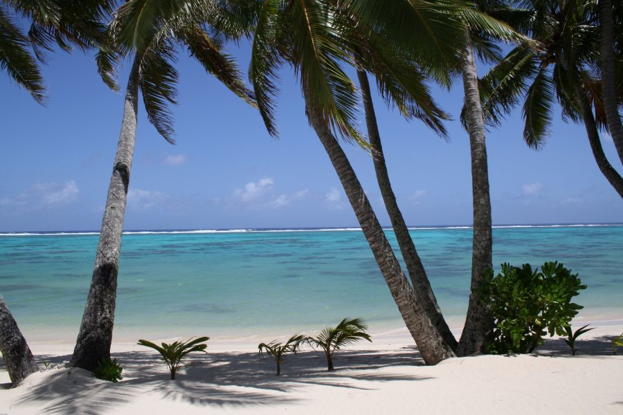 Rarotonga Island E51MRC Tourist attractions spot Beach.