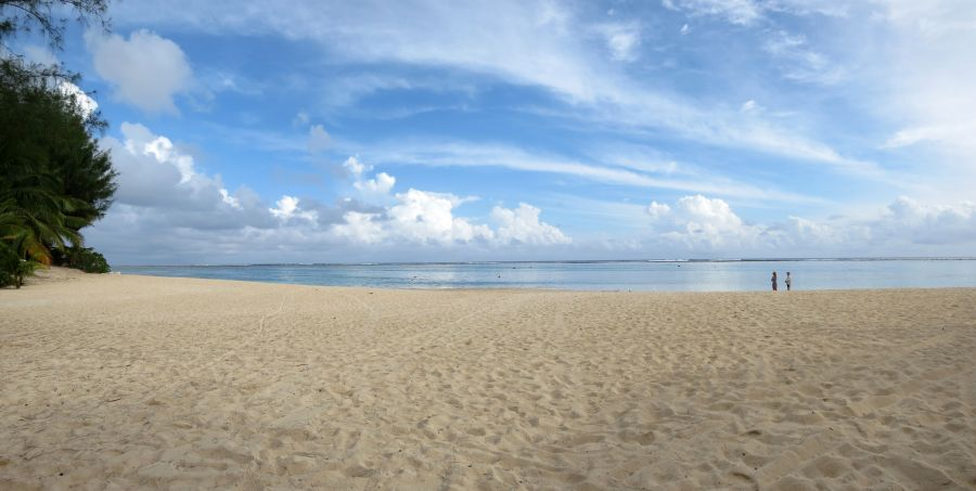 Rarotonga Island E51XYZ Tourist attractions spot Palm Grove's Beach, Vaimaaga.