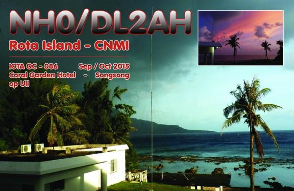 Остров Рота NH0/DL2AH QSL