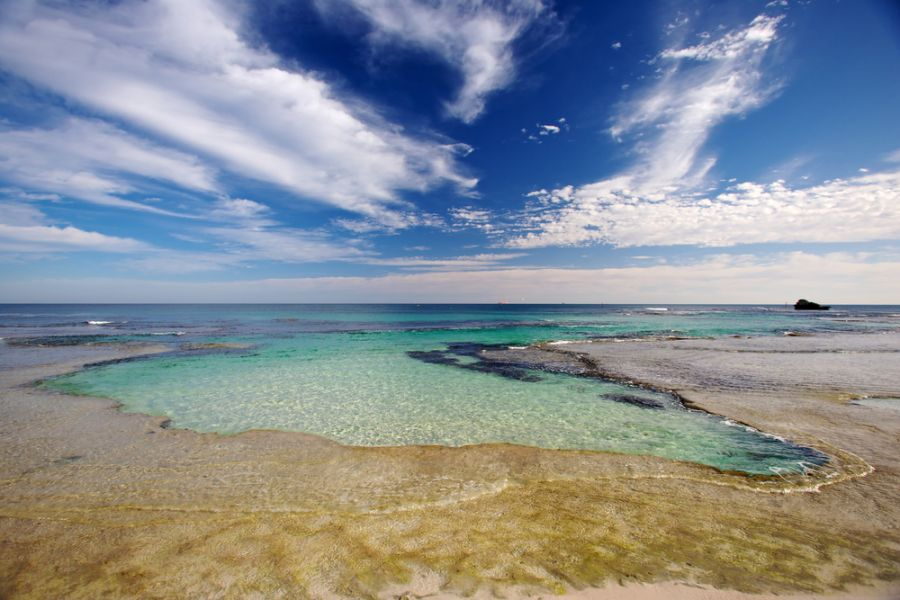 Rottnest Island VK6/G0KIK/P Tourist attractions spot A natural swimming pool.