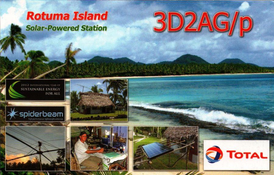 Rotuma Island 3D2AG/P QSL