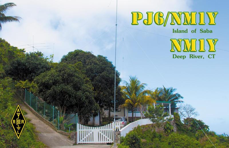 Saba Island PJ6/NM1Y QSL