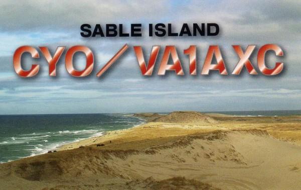 Остров Сейбл CY0/VA1AXC QSL