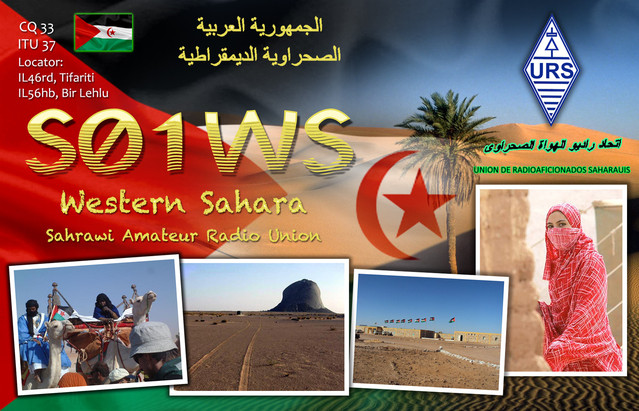 Sahrawi Arab Democratic Republic S01WS QSL