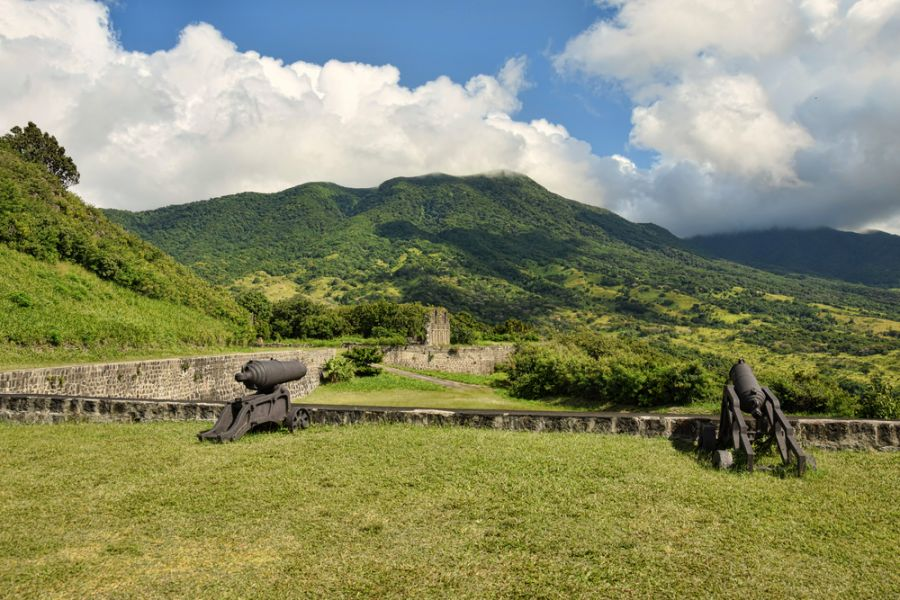 Saint Kitts Island V47TR Old colonial fortress Brimstone Hill.