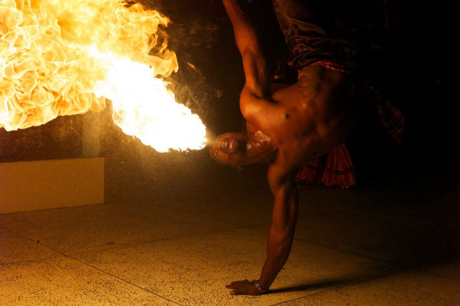 Saint Lucia Island J6/NY3B DX News Fire Dancers.