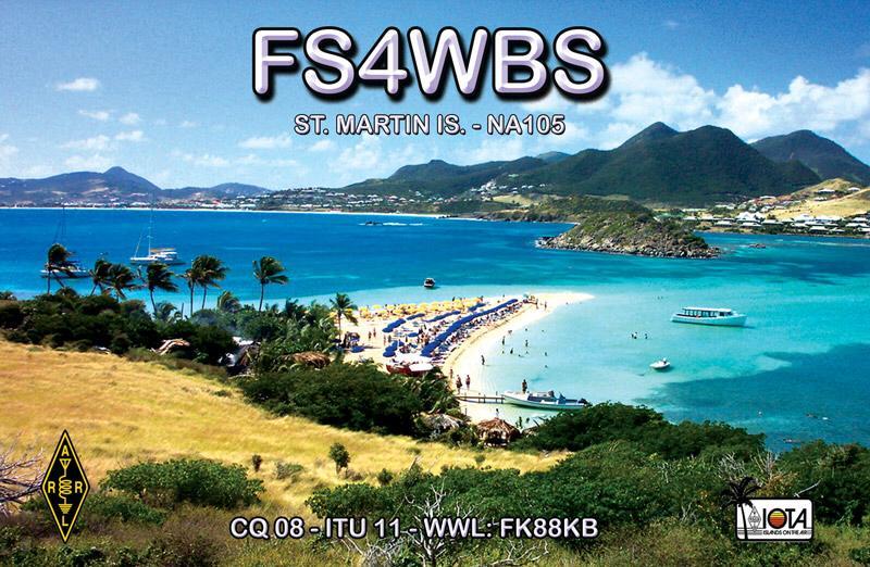 Остров Сен Мартен FS4WBS QSL