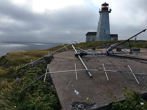 Saint Paul Island CY9C EME Antenna damaged