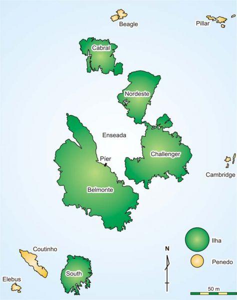 Архипелаг Сан Педру и Сан Паулу PY0S/PU0FDN Карта