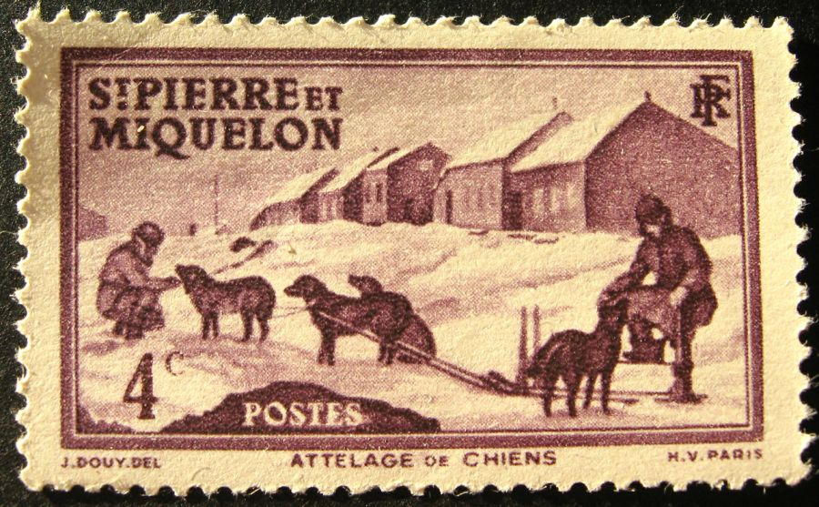 Saint Pierre and Miquelon Islands FP/ZS6EZ FP/W3UA Stamp