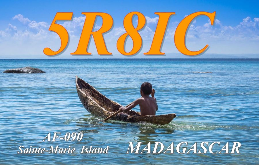 Остров Сент Мари Нуси Бураха Мадагаскар 5R8IC QSL 1