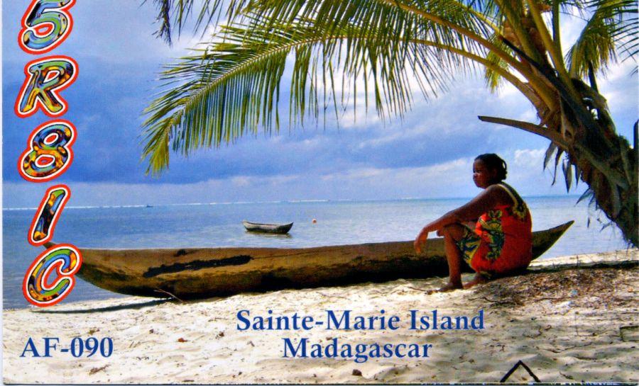 Остров Сент Мари Нуси Бураха Мадагаскар 5R8IC QSL