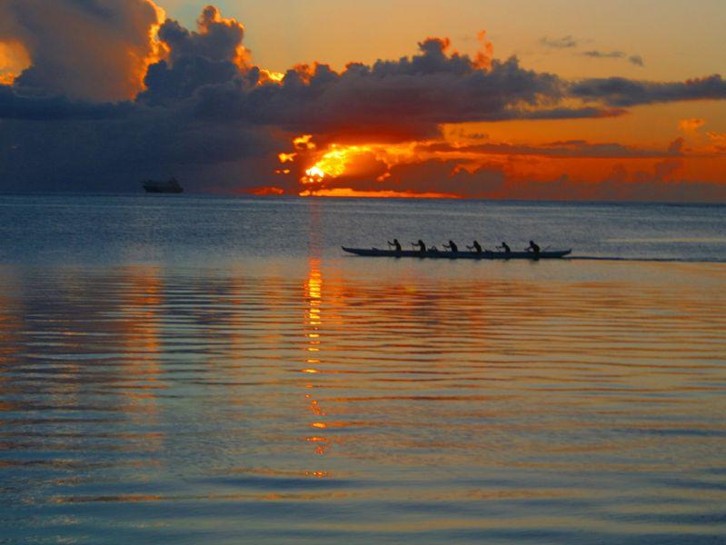 Остров Сайпан KH0/JR1FKR Закат.