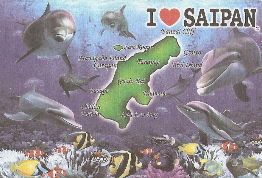 Остров Сайпан NH0DX Туристические достопримечательности Карта