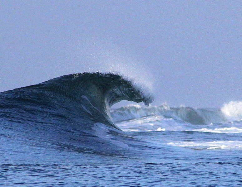 Самоа 5W0JHQ Туристические достопримечательности Супер волна, Салани.