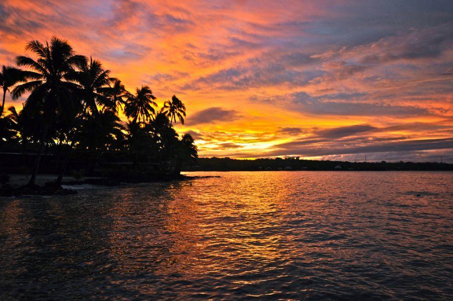 Samoa 5W0UO DX News Samoa sunset.