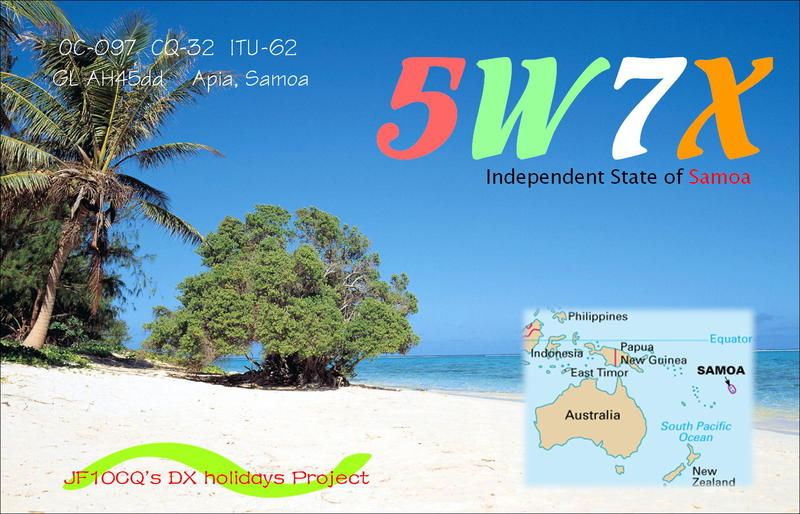 Самоа 5W7X QSL