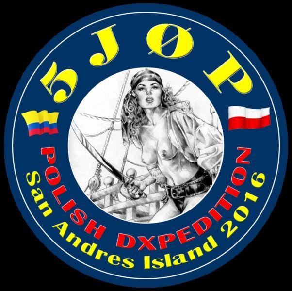 Остров Сан Андрес 5J0P DX Экспедиция Логотип